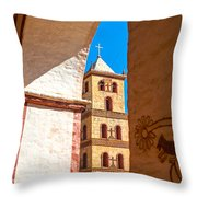 Historic Stone Bell Tower Throw Pillow