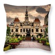 Ho Chi Minh City Hall Throw Pillow