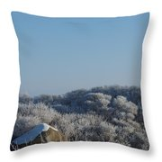 Hoarfrost Throw Pillow
