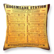 Hogsmeade Station Timetable Throw Pillow