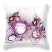 Hole To Hole Throw Pillow