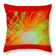 Holiday Burst Throw Pillow
