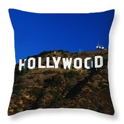 Hollywood Sign Los Angeles Ca Throw Pillow