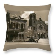 Holy Angel's Catholic Church Rectory  Belles Indian Saloon   The Great White Hope Set Globe Az 1969 Throw Pillow