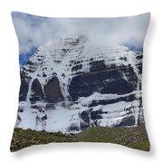 Holy Kailas North Slop Himalayas Tibet Yantra.lv Throw Pillow