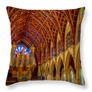 Holy Name Organ Loft Throw Pillow