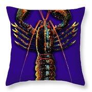 Homarus Vulgaris Flying On The Purple Throw Pillow