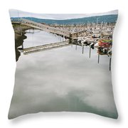 Homer Boat Ramp Throw Pillow