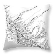 Honolulu Hawaii Usa Light Map Throw Pillow