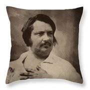 Honore De Balzac Throw Pillow