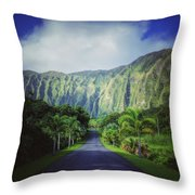 Ho'omaluhia Botanical Garden Throw Pillow