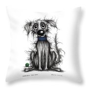 Horrible The Dog Throw Pillow