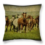 Horses 27 Throw Pillow