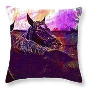 Horses Harmony For Two Animal World  Throw Pillow