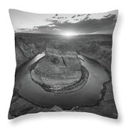 Horseshoe Bend Sunset Throw Pillow by Michael Ver Sprill