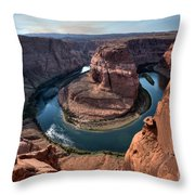Horseshoe Bend Throw Pillow