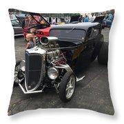 Hot Rod Throw Pillow