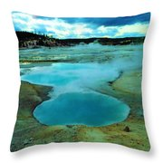 Hot Springs In Yellowstone. Throw Pillow