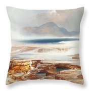 Hot Springs Of The Yellowstone Throw Pillow