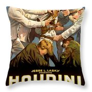 Houdini In The Grim Game 1919 Throw Pillow