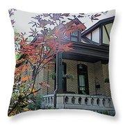 House In German Village Throw Pillow
