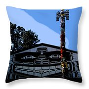 House Of Totem Throw Pillow