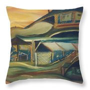 House On A Hill Throw Pillow by Gregory Dallum