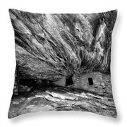 House On Fire Ruin Utah Monochrome 2 Throw Pillow