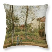 Houses At Bougival  Throw Pillow