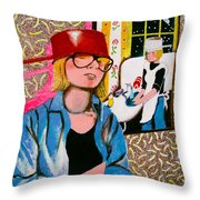 Housewife Throw Pillow