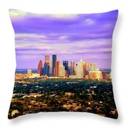 Houston 1980s Throw Pillow