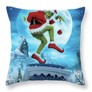 How The Grinch Stole Christmas 2000  Throw Pillow