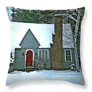 Howland House In Windsor Throw Pillow