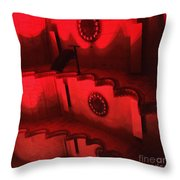 Hues Of Massey Hall - Red Throw Pillow