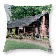 Huffman Log Cabin Throw Pillow