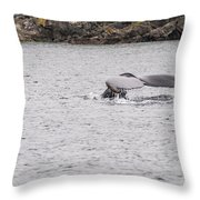 Humpback Whales 3 Throw Pillow