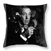 Humphrey Bogart Portrait #1 Circa 1954-2014 Throw Pillow