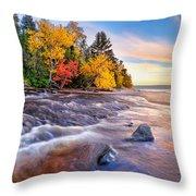 Hurricane River Sunset Throw Pillow