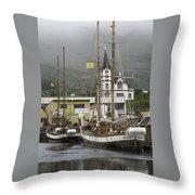 Husavik Harbor Iceland 3660 Throw Pillow