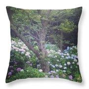 Hydrangea Flowers  Throw Pillow