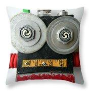 Hypno Bot Throw Pillow by Jen Hardwick