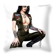 I Feel The Need Throw Pillow
