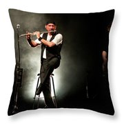 Ian Anderson Of Juthro Tull  Live Concert Throw Pillow