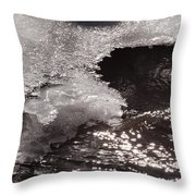 Ice And Sparkling Water Throw Pillow