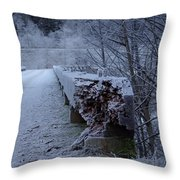 Ice Bridge Throw Pillow