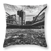 Ice Chunks On The Elbe - Hamburg Throw Pillow