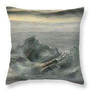 Ice In The Surf Throw Pillow