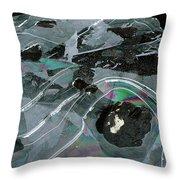 1. Ice Prismatics, Loch Tulla Throw Pillow