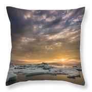 Icebergs On The Jokulsarlon Glacial Throw Pillow