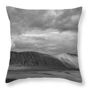 Iceland Mountains Panorama Throw Pillow